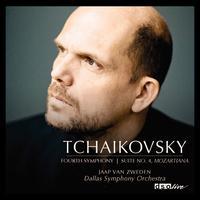 """Tchaikovsky: Symphony No. 4; Suite No. 4 """"Mozartiana"""" - Andres Cardenes (violin); Dallas Symphony Orchestra; Jaap van Zweden (conductor)"""