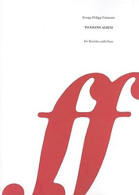 Telemann Album: 14 Arrangements for Descant (Soprano) and Treble (Alto) Recorders with Piano And/Or Tenor Recorder - Bergmann, Walter