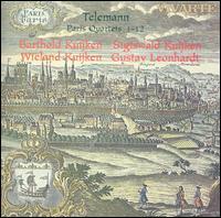 Telemann: Paris Quartets 1-12 - Barthold Kuijken (flute); Gustav Leonhardt (harpsichord); Sigiswald Kuijken (violin); Wieland Kuijken (viola da gamba)