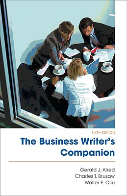 9780312609634 the business writers companion gerald j alred the business writers companion alred gerald j and brusaw charles t fandeluxe Image collections