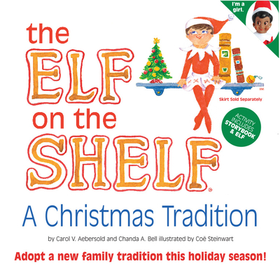 The Elf on the Shelf Girl Dark Doll with Book: A Christmas Tradition - Aebersold, Carol V (Creator)