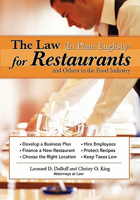 The Law in Plain English for Restaurants and Others in the Food Industry - DuBoff, Leonard D