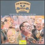 The Recorded Viola, Vol.1