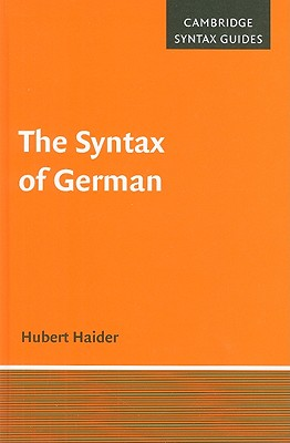 The Syntax of German - Haider, Hubert