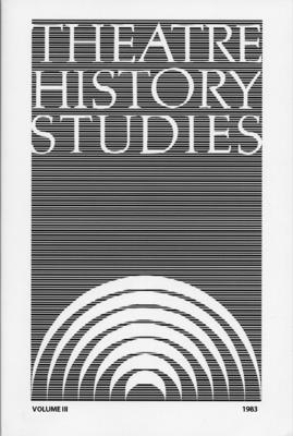 Theatre History Studies 1983, Vol. 3 - Engle, Ron (Editor)