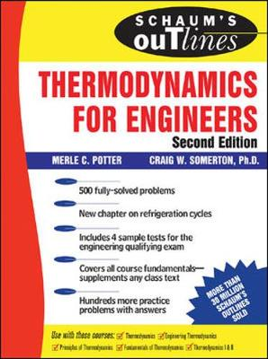 Thermodynamics for Engineers - Potter, Merle, Dr., PhD, Pe