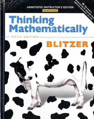 Thinking Mathematically - Blitzer, Robert