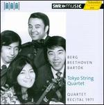 Toyko String Quartet Plays Berg, Beethoven & Bart�k