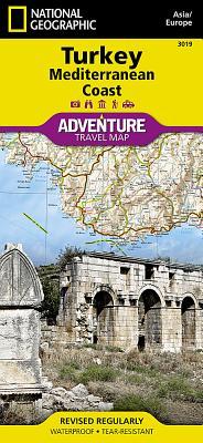 Turkey, Mediterranean Coast - National Geographic Maps