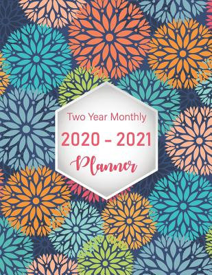 Two Year Monthly Planner 2020-2021: 24 Months Planner and Calendar, Monthly Calendar Planner, Agenda Planner and Schedule Organizer, Journal Notebook with mandala color dot - Murphy, Graciela