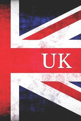 UK: Great Britain Vintage Flag Unlined Notebook (Journal, Diary) - Publisher Yna, USA