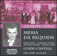 Verdi: Messa da Requiem - Claramae Turner (mezzo-soprano); Herva Nelli (soprano); Jerome Hines (bass); Richard Tucker (tenor);...