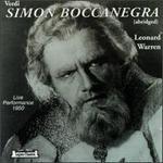 Verdi: Simon Boccanegra (abridged)