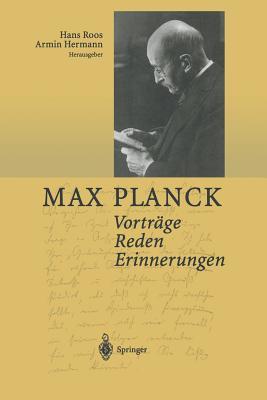 Vortrage Reden Erinnerungen - Planck, Max