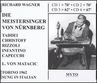 Wagner: Die Meistersinger von Nürnberg - Boris Christoff (vocals); Bruna Rizzoli (vocals); Carlo Franzini (vocals); Ezio de Giorgi (vocals); Fernanda Cadoni (vocals);...