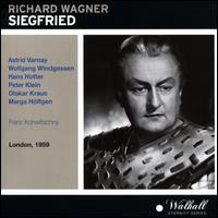 Wagner: Siegfried (London, 1959) - Astrid Varnay (vocals); Dorothea Siebert (vocals); Hans Hotter (vocals); Marga Höffgen (vocals); Otakar Kraus (vocals);...