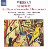 Webern: Symphony; Six Pieces; Concerto for 9 Instruments - Ani Kavafian (violin); Charles Neidich (clarinet); Christopher Gekker (trumpet); Christopher Oldfather (piano);...
