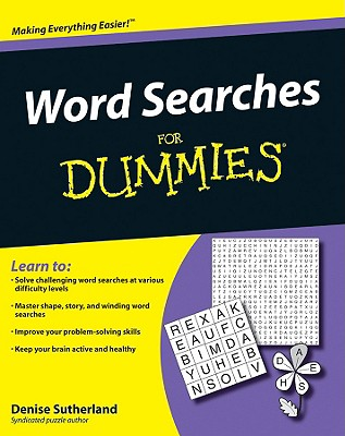 Word Searches for Dummies - Sutherland, Denise