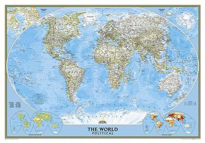 World Political Map: PP.NGW622005 - National Geographic Society